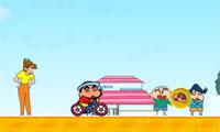 Crayon Shin Chan Rides Bicycle